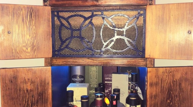 Gramophone Unit Upcycled into Drinks Cabinet